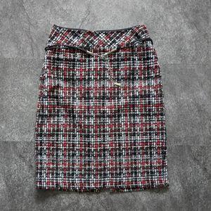 Melanie Lyne tweed belted pencil skirt size 2